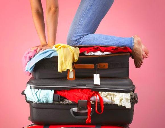 Será que consigo levar poucas roupas na mala?